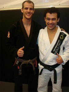 Cole Miller posing with Marcelo Garcia